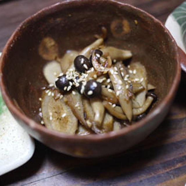 ゴボウとサクラエビの甘辛炒め煮