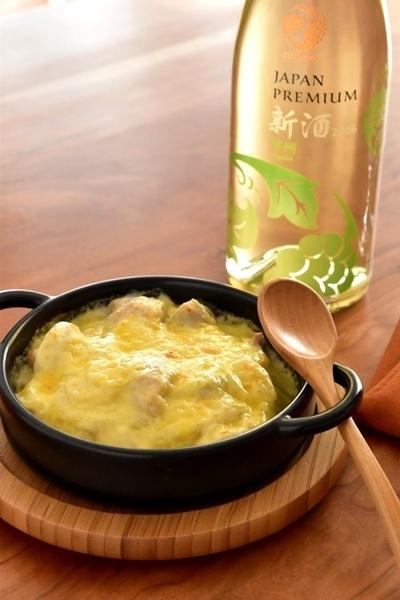 和食とワイン「里芋と鶏肉の和風グラタン」