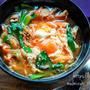♡豚キムチdeコクうま♡落とし卵の味噌スープ♡【#味噌汁#豚汁#おかずスープ#簡単レシピ】