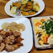 焼き鳥&焼き野菜。
