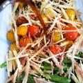 ■菜園料理三昧【ゴーヤ・インゲンの揚げ浸し/トマトの焼き浸し/ポテトサラダ】