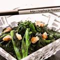 クックパッドでトップ10入り「菜の花☆クルミ和え」 by Jacarandaさん