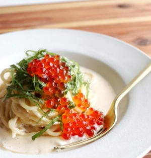 【贅沢づくし!】いくらと明太子のクリームパスタのレシピ