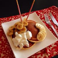 バナナ✖️ポッキー パンケーキ!