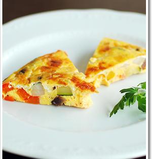 残り物の野菜をざくざく切ってイタリア風オムレツ、フリッタータ