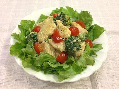 米ぬかドレッシングで♪ブロッコリーと鶏胸肉のホットサラダ