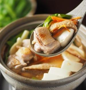 柚子こしょう風味の鶏鍋