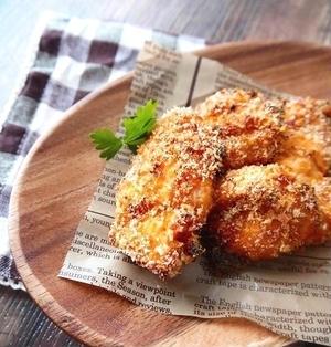 トースターでサクサク♪鶏むね肉のコンソメチーズチキンかつ