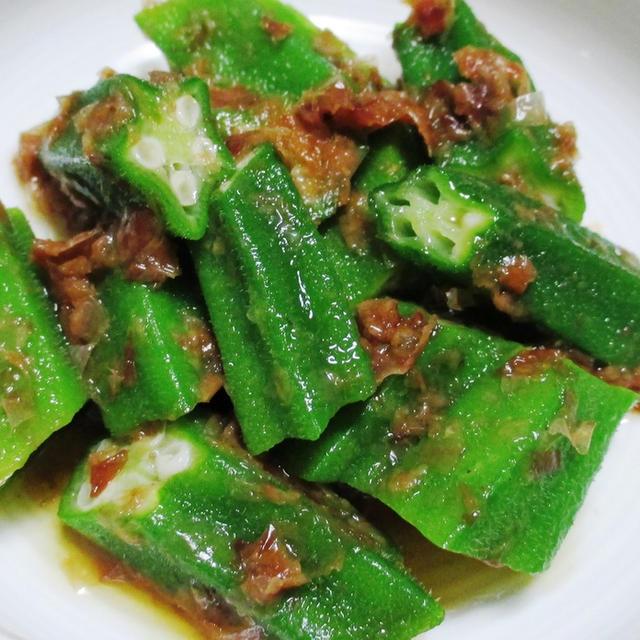 オクラの麺つゆかつお和え<うま味とコク満点>
