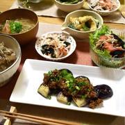 【レシピ】万能肉味噌✳︎肉味噌ご飯✳︎焼き茄子の肉味噌のっけ✳︎簡単✳︎ご飯のおかず