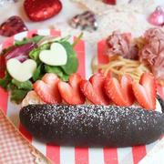 バレンタインに!ココアコッペパンで苺ホイップサンド