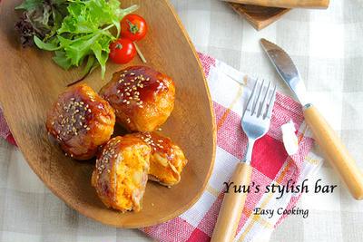 お手軽時短♡マッシュポテト de 新ジャガイモと豚キムチの照り焼き《簡単★節約★常備菜》