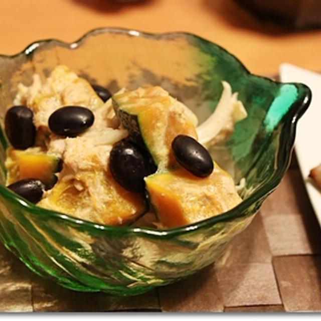 塩麹鯖と塩肉じゃが、黒豆かぼちゃサラダの和食ごはん♪