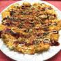 グルテンフリー卵と厚揚げとキャベツのお好み焼き風(節約)