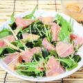 醤油麹豆乳deマグロのお刺身サラダ
