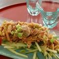 豚バラとえのきのバタポン生姜胡瓜サラダ