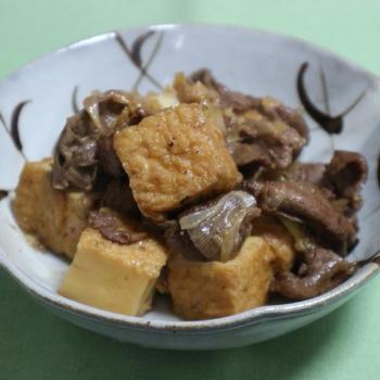 牡蠣だし醤油で肉豆腐