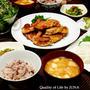 手羽先のグリル焼き 小松菜の胡麻和えなど by JUNA(神田智美)さん