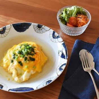ひじき煮をアレンジ「和風あんかけオムライス」