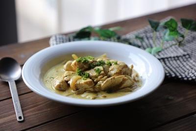コストコの鶏むね肉で♡鶏むね肉のカレークリーム煮込み