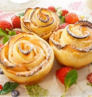 薔薇のりんごパイ