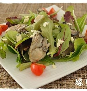 割烹白だしを使って!牡蠣のオイル漬けでたっぷりグリーンサラダ!