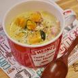 かぼちゃとベーコンの豆乳スープ