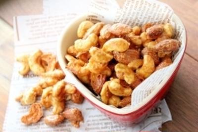 簡単キャラメル醤油ナッツ
