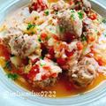 豚バラミートボールのキャベツトマト煮込み(動画レシピ)/Stewed pork Meatballs with Cabbage and Tomatoes.