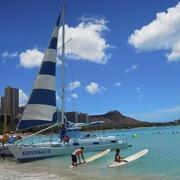 ハワイの旅♪ワイキキビーチでのんびり&ステーキディナー♡