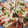 季節野菜とモツアレラチーズのグラタン