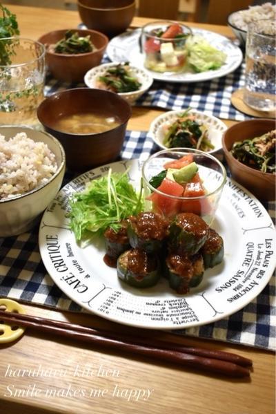 【レシピ】ピーマンの肉詰め焦がし味噌✳︎ピーマンが食べやすい✳︎お弁当✳︎ご飯のおかず…試合結果と自分で自分にびっくりしたこと。