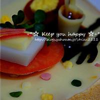 +*Q・B・B大きいスライスチーズ☆デコパンレシピコンテストレシピ+*④