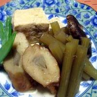 自家製高野豆腐と山蕗の炊き合わせ
