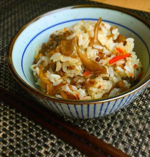 おかわり止まらん♡舞茸とひき肉の混ぜご飯*今季初鍋♡