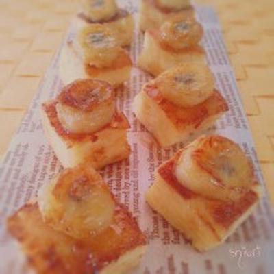 ☆ イングリッシュマフィンのキャラメルバナナフレンチトースト♪。
