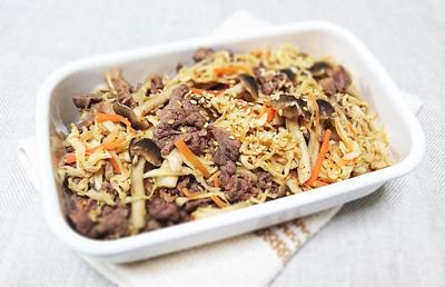 牛肉と切り干し大根のチャプチェ(レシピ:平岩 紗千代)
