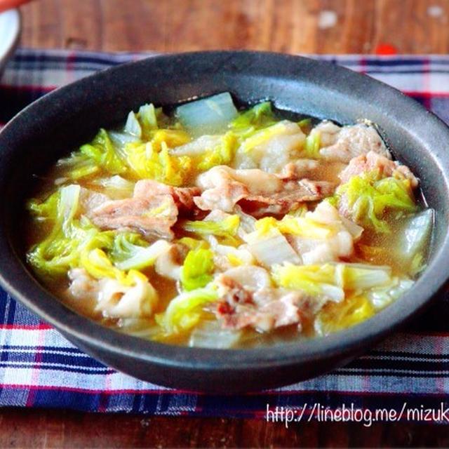 ♡めんつゆde超簡単♡豚肉と白菜の生姜あんかけ♡【#時短#節約#フライパン】