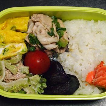 8月27日☆今日のお弁当は、豚肉の冷しゃぶネギポン酢弁当