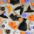ハロウィンのアイシングクッキー(● ̄▽ ̄●;)ゞぽりぽり by きゃらめるみるく。みぃさん