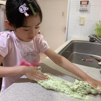 Yunoさんのピザ作り。