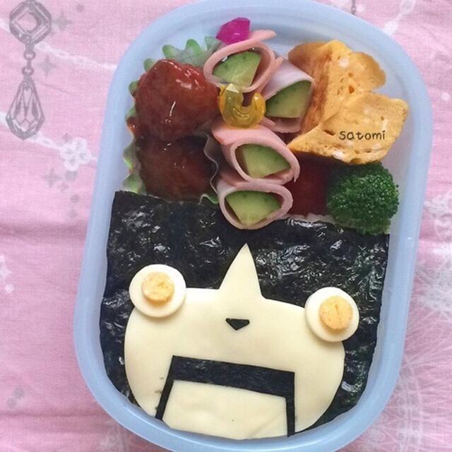 幼稚園弁当☆なんか不格好なロボニャン…キャラ弁