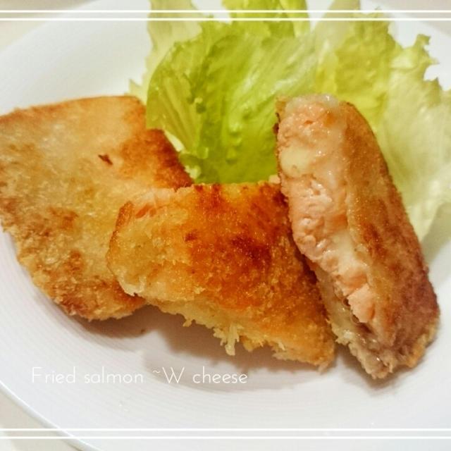 【Recipe:サーモンのWチーズフライ】たまさん お仕事中にドキドキ♡