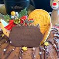 「鬼滅の刃」クッキーを飾ってお子さん用エンゼル型チョコレートクリスマスケーキです!!