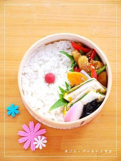 2012.7.3のお弁当【かれいのオイスター炒め弁当】