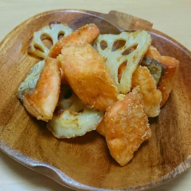 鮭食べれた♪サーモンの竜田揚げ☆ほんのりカレー風味