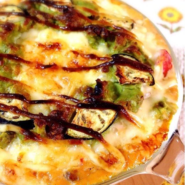 浜納豆ヨーグルトの野菜グラタン。