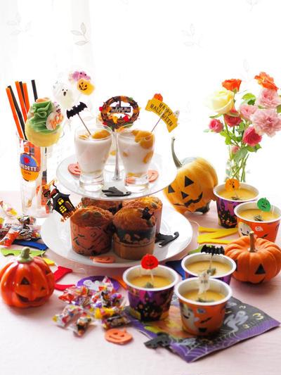 ハロウィンティーパーティー カボチャのお菓子3種