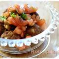 トマトバジルソースで頂くスパイスたっぷりケバブ風肉団子