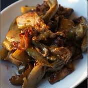 茄子と豚肉のカリトロ炒め